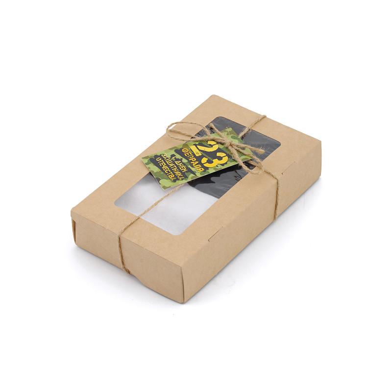 """Подарочный набор для мужчины на 23 февраля """"2 пары носков в подарочной упаковке"""""""