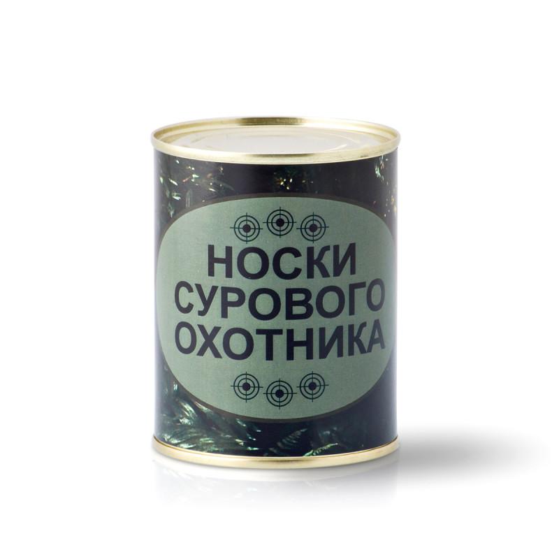 """Носки в банке """"Сурового охотника"""" оптом"""