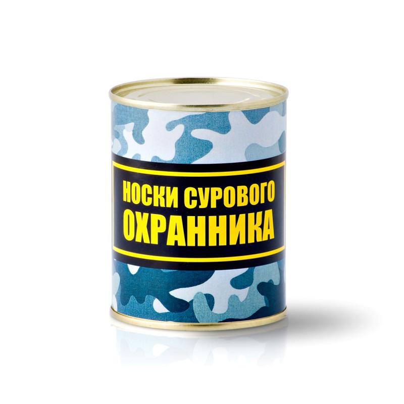 """Носки в банке """"Сурового охранника"""" оптом"""